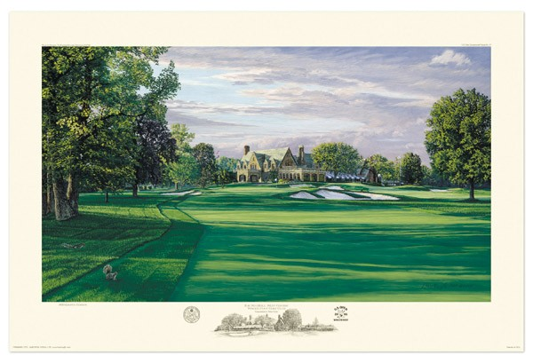 Winged Foot 9th Hole West by Hartough THUMBNAIL