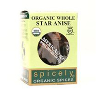 ORGANIC ANISE STAR WHOLE, 0.1oz.