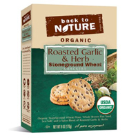 Back to Nature Organic Roasted Garlic & Herb Stone-ground Wheat Crackers, 6 oz.