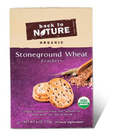Back to Nature Organic Stone-ground Wheat Crackers, 6 oz.