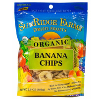 Sunridge Organic Banana Chips, 5.5oz.