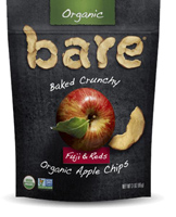Bare Fruit Organic Fuji Red Apple Chips 3 oz