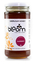 Bloom RAW Raspberry Honey, 16oz.