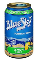 Blue Sky Lemon Lime Soda,12oz