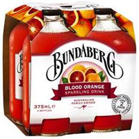 Bundaberg Sparkling Blood Orange Drink, 4 pack