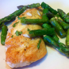 * Chicken Paillards with Lemon Asparagus