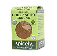 ORGANIC CHILI ANCHO GROUND, 0.45oz.