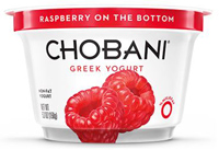 Chobani Raspberry Greek Yogurt, 5.3oz.
