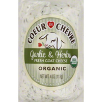Organic Coeur de Chevre Garlic Herb Goat Cheese, 4oz