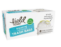 Field Day Drawstring Kitchen Trash Bags, 20 count Grow grocery ...