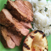 * Grilled Ginger-Honey Pork Tenderloin