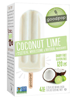 GoodPops Coconut Lime Frozen Pops, 4 pack