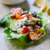 * Greek Chicken Lettuce Cups with Avocado Tzatziki