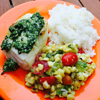 * Halibut with Quick Lemon Pesto