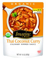 Imagine Organic Thai Coconut Curry Simmer Sauce, 10 oz