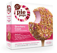 JC's Pie Pops Strawberry Cream 3 pack, 9.4 oz.