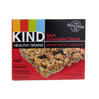 Kind Healthy Grains Dark Chocolate Chunk Granola Bars, 5pk