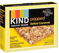 Kind Healthy Grains Popped Salted Caramel Granola Bars, 5pk