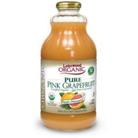 Lakewood Organic Pink Grapefruit Juice, 32 oz.