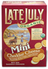 Late July Organic Mini Cheddar Sandwich Crackers,  5 oz