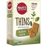 Mary's crackers nutritional info