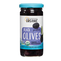 Mediterranean Organics Pitted Black Olives, 8.1oz