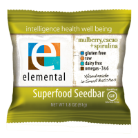 Elemental Raw Mulberry, Cocoa+Spirulina Bar, 1.8oz