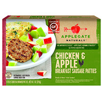 Applegate Naturals Chicken & Apple Breakfast Sausage Patties, 7oz.