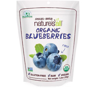 Natierra Freeze-dried Organic Blueberries, 1.2 oz.