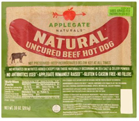 Applegate Naturals Uncured Beef Hotdogs, 10oz.