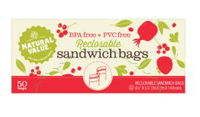 Natural Value Reclosable Sandwich Bags, 50 count