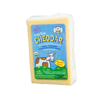 Organic Pastures Raw Cheddar Cheese, 8oz.
