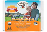 Organic Valley American Cheese Singles, 8oz.