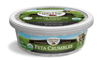 Organic Valley Feta Cheese Crumbles, 4oz