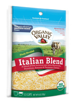 Organic Valley Shredded Italian Blend, 6oz.