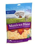 Organic Valley Shredded Mexican Blend, 6oz.