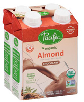 Pacific Organic Chocolate Almond Milk 4pk., 4-8oz.