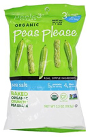 Peeled Organic Peas Please Snacks (Sea Salt), 3.3 oz