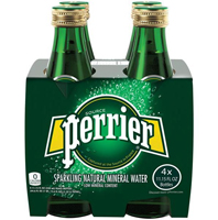 Perrier Sparkling Mineral Water, 4 pack