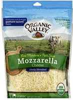 Organic Valley Shredded Mozzarella, 6oz.