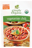 Simply Organic Vegetarian Chili Seasoning, 1 oz.