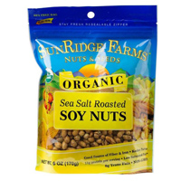 Sunridge Organic Roasted & Salted Soy Nuts, 6oz.