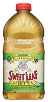 Sweet Leaf Organic Mint & Honey Green Tea, 64oz.