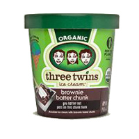 Three Twins Brownie Batter Chunk Ice Cream, Pint
