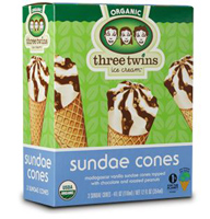 Three Twins Sundae Cones, 3 pack