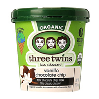Three Twins Vanilla Chocolate Chip Ice Cream, Pint