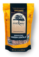 TruRoots Organic Sprouted Green Lentils, 10oz.