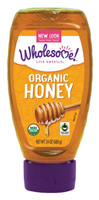 Wholesome Organic Honey Squeeze Bottle, 16oz.