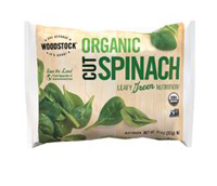 Woodstock Organic Cut Spinach, 10 oz.