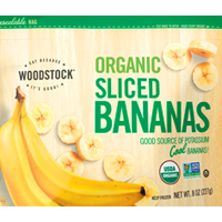 Woodstock Organic Frozen Sliced Bananas, 8oz.